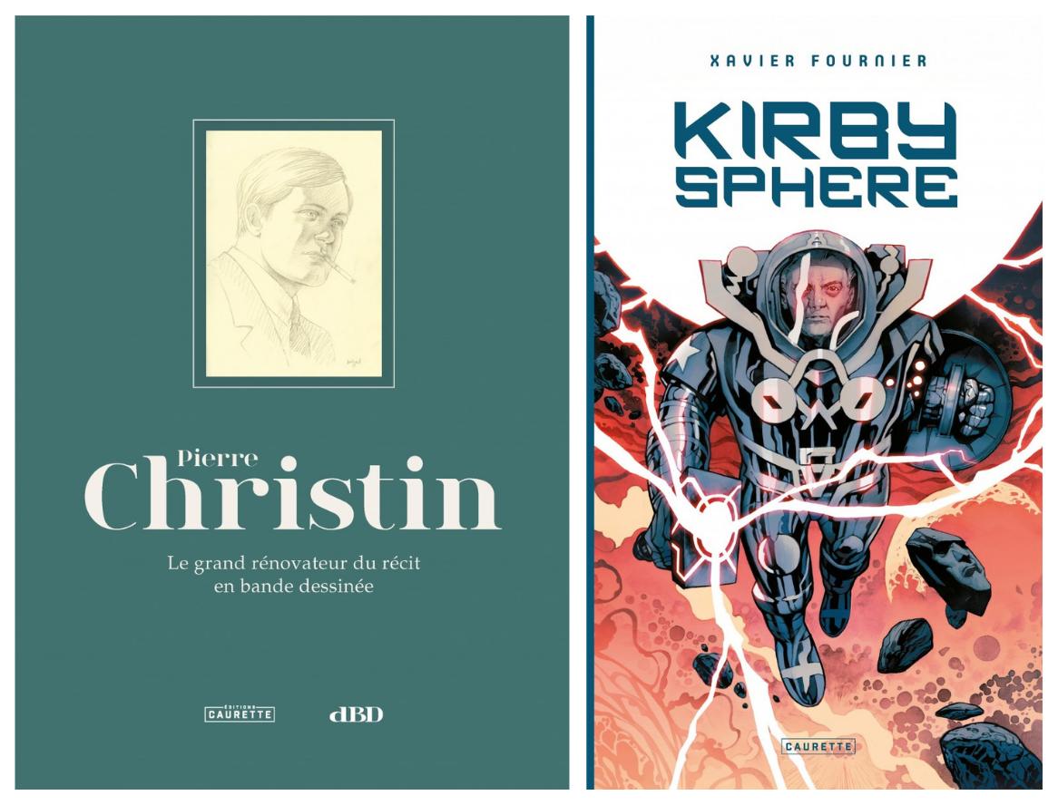 Couvertures des livres Kirby Sphere et Pierre Christin.